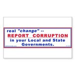Report Corruption Rectangle Sticker