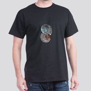 ammonite ying and yang shirt2 T-Shirt