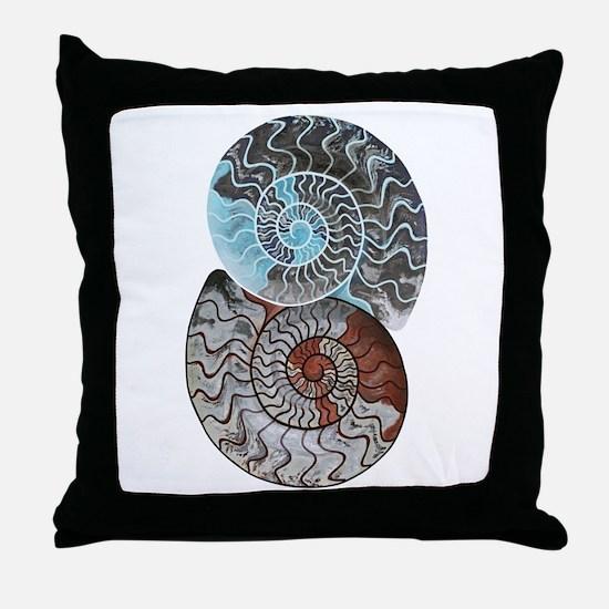 Cute Fossil Throw Pillow