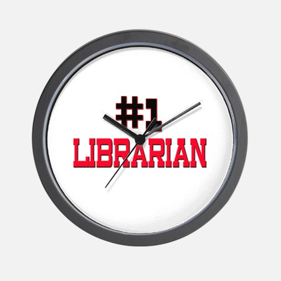 Number 1 LIBRARIAN Wall Clock
