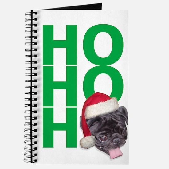 AllThingsPug.com Black Pug Santa Journal
