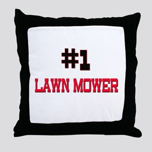 Number 1 LAWN MOWER Throw Pillow