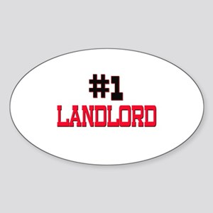 Number 1 LANDLORD Oval Sticker