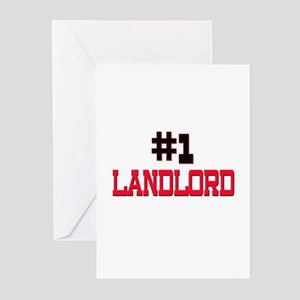 Number 1 LANDLORD Greeting Cards (Pk of 10)