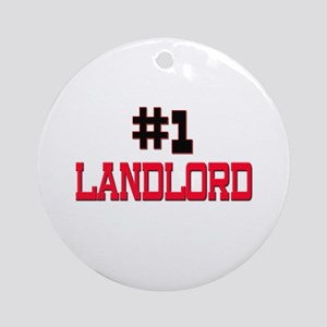 Number 1 LANDLORD Ornament (Round)