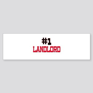 Number 1 LANDLORD Bumper Sticker