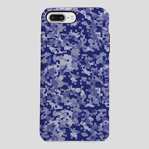 BLUE DIGI CAMO iPhone 7 Plus Tough Case