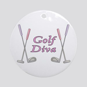 Golf Diva Ornament (Round)