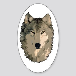 Wolf Pack Oval Sticker