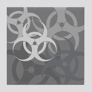 Grey Biohazard Tile Coaster