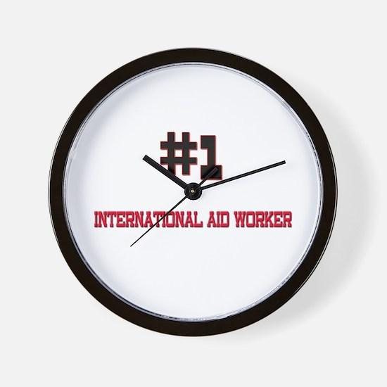 Number 1 INTERNATIONAL AID WORKER Wall Clock