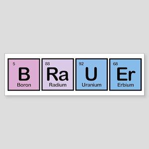 Brauer made of Elements Bumper Sticker