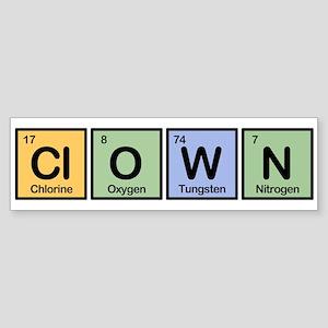 Clown made of Elements Bumper Sticker