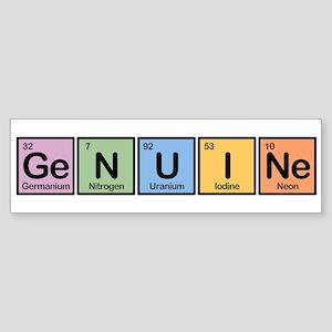 Genuine made of Elements Bumper Sticker