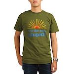 Global Warming Sun Organic Men's T-Shirt (dark)