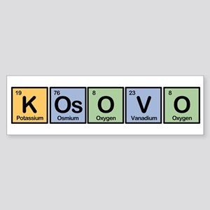 Kosovo made of Elements Bumper Sticker