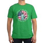 America Free and Brave Men's Fitted T-Shirt (dark)