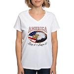 America - Love it Women's V-Neck T-Shirt