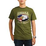 America - Love it Organic Men's T-Shirt (dark)