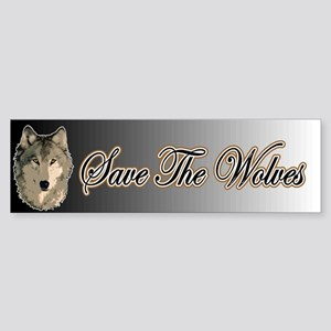 Save The Wolves Bumper Sticker
