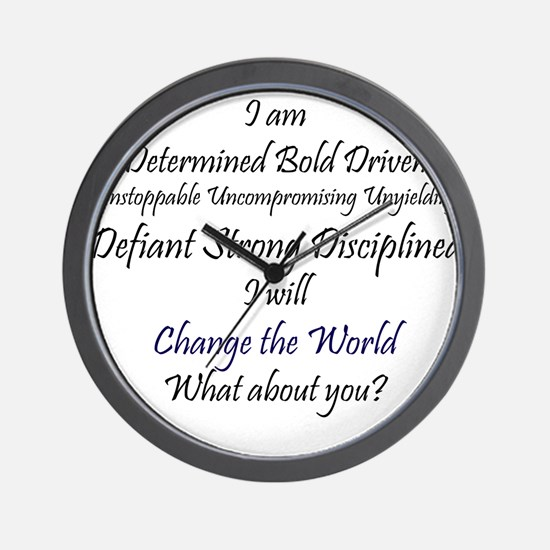 I Am Determined Wall Clock