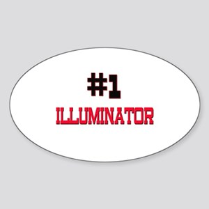 Number 1 ILLUMINATOR Oval Sticker