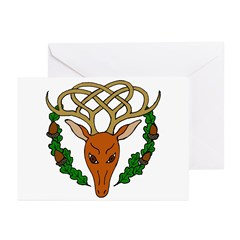 Celtic Stag Greeting Cards (Pk of 10)