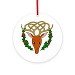 Celtic Stag Ornament (Round)