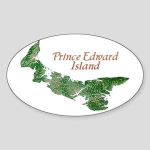 Prince Edward Island Oval Sticker