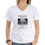 Horns of Fury Women's V-Neck T-Shirt