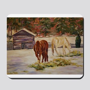 Snow Day at the Barn Mousepad