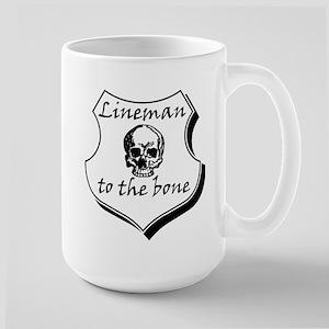 Lineman to the Bone Large Mug