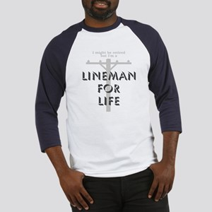 Retired Lineman Baseball Jersey