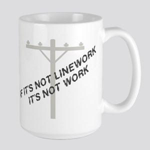 If it's not linework Large Mug