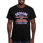 Corrupt Chicago Men's Fitted T-Shirt (dark)
