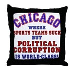Corrupt Chicago Throw Pillow
