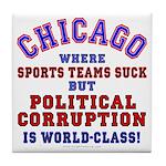 Corrupt Chicago Tile Coaster
