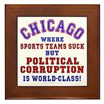 Corrupt Chicago Framed Tile