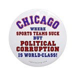 Corrupt Chicago Ornament (Round)