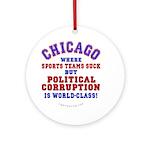 Corrupt Chicago Ornament (Round)