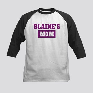 Blaines Mom Kids Baseball Jersey