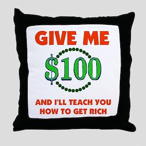 GET RICH QUICK Throw Pillow