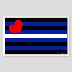 Leather Pride Flag Rectangle Sticker