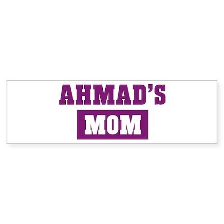 Ahmads Mom Bumper Sticker