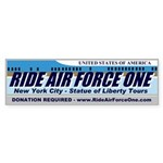 Ride Air Force One Bumper Sticker (10 pk)