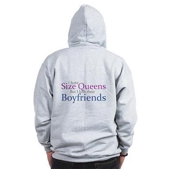 I Hate Size Queens Zip Hoodie