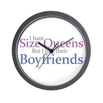I Hate Size Queens Wall Clock