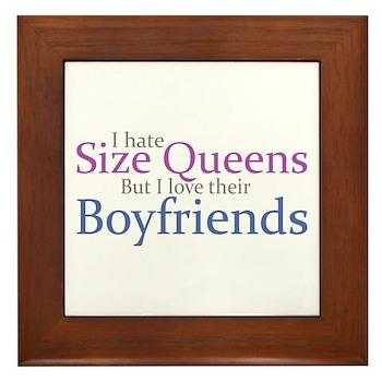 I Hate Size Queens Framed Tile