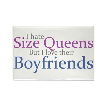 I Hate Size Queens Rectangle Magnet