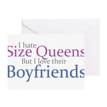 I Hate Size Queens Greeting Card